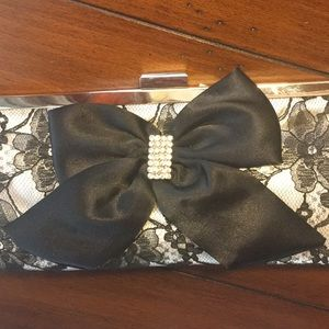Bags - Lace and Satin Evening Clutch